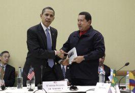 Barack Obama e Hugo Chávez