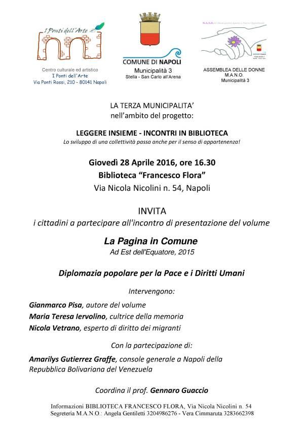 Evento 28 Aprile